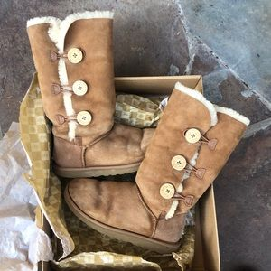 Ugg Leather Boots Sz 8